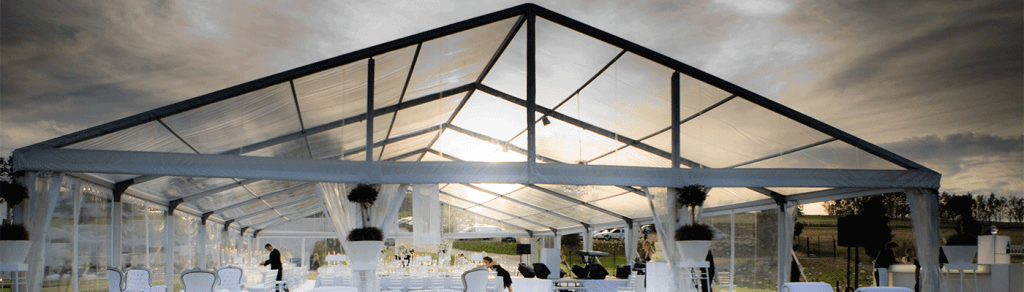 aluminium frame and clear span tents