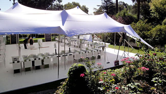 Stretch bedouin tent, Hired and pitched for event